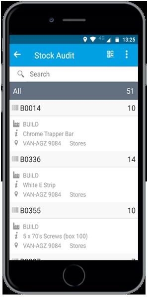 Stock audit app barcode