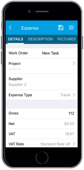 Expenses and time tracking app