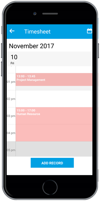 timesheets and expences app